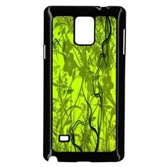 Concept Art Spider Digital Art Green Samsung Galaxy Note 4 Case (Black)