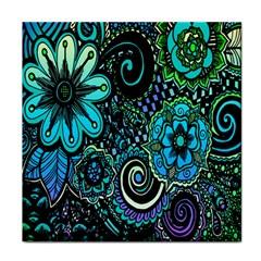 Sun Set Floral Tile Coasters