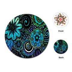Sun Set Floral Playing Cards (Round)