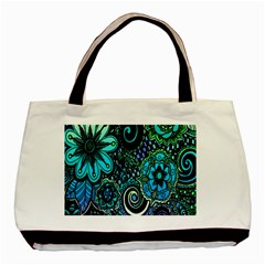 Sun Set Floral Basic Tote Bag
