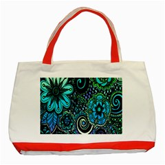 Sun Set Floral Classic Tote Bag (Red)