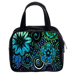 Sun Set Floral Classic Handbags (2 Sides)