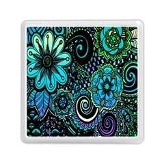 Sun Set Floral Memory Card Reader (square)