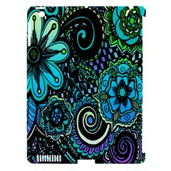 Sun Set Floral Apple iPad 3/4 Hardshell Case (Compatible with Smart Cover)