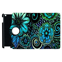 Sun Set Floral Apple Ipad 3/4 Flip 360 Case