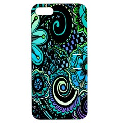 Sun Set Floral Apple Iphone 5 Hardshell Case With Stand