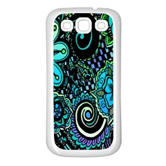 Sun Set Floral Samsung Galaxy S3 Back Case (white)