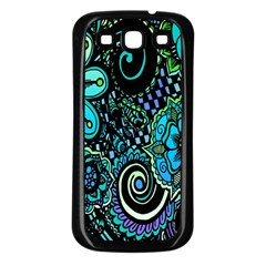 Sun Set Floral Samsung Galaxy S3 Back Case (Black)