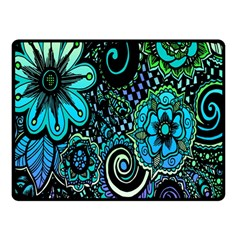 Sun Set Floral Double Sided Fleece Blanket (small)