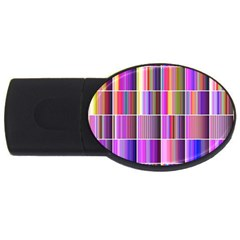 Plasma Gradient Gradation USB Flash Drive Oval (1 GB)