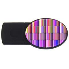 Plasma Gradient Gradation Usb Flash Drive Oval (4 Gb)
