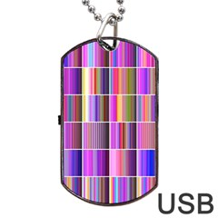 Plasma Gradient Gradation Dog Tag Usb Flash (two Sides)