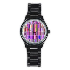 Plasma Gradient Gradation Stainless Steel Round Watch