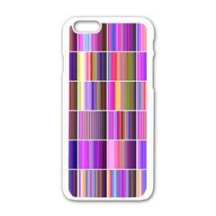 Plasma Gradient Gradation Apple Iphone 6/6s White Enamel Case