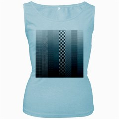 Semi Authentic Screen Tone Gradient Pack Women s Baby Blue Tank Top