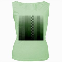 Semi Authentic Screen Tone Gradient Pack Women s Green Tank Top