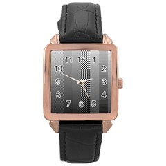 Semi Authentic Screen Tone Gradient Pack Rose Gold Leather Watch