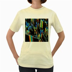 Abstract 3d Blender Colorful Women s Yellow T-Shirt