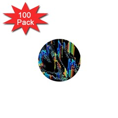 Abstract 3d Blender Colorful 1  Mini Buttons (100 Pack)