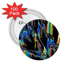Abstract 3d Blender Colorful 2.25  Buttons (100 pack)