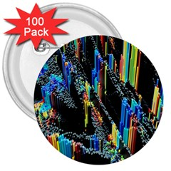 Abstract 3d Blender Colorful 3  Buttons (100 Pack)