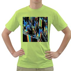 Abstract 3d Blender Colorful Green T Shirt