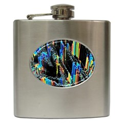 Abstract 3d Blender Colorful Hip Flask (6 Oz)