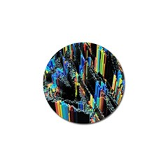 Abstract 3d Blender Colorful Golf Ball Marker (4 pack)