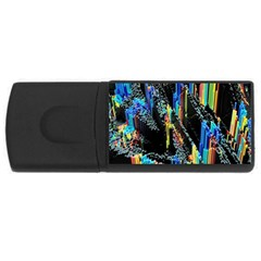 Abstract 3d Blender Colorful USB Flash Drive Rectangular (2 GB)
