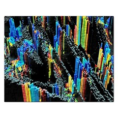 Abstract 3d Blender Colorful Rectangular Jigsaw Puzzl