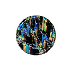 Abstract 3d Blender Colorful Hat Clip Ball Marker (10 Pack)