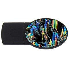 Abstract 3d Blender Colorful Usb Flash Drive Oval (4 Gb)