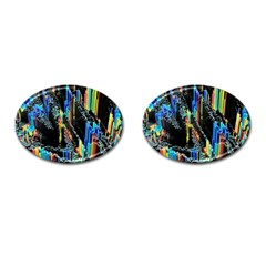 Abstract 3d Blender Colorful Cufflinks (Oval)