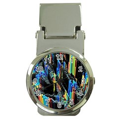 Abstract 3d Blender Colorful Money Clip Watches