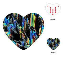Abstract 3d Blender Colorful Playing Cards (Heart)