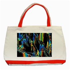 Abstract 3d Blender Colorful Classic Tote Bag (Red)
