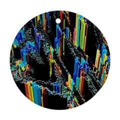 Abstract 3d Blender Colorful Round Ornament (Two Sides)