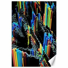 Abstract 3d Blender Colorful Canvas 12  x 18