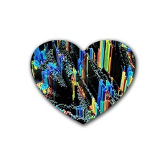 Abstract 3d Blender Colorful Heart Coaster (4 Pack)
