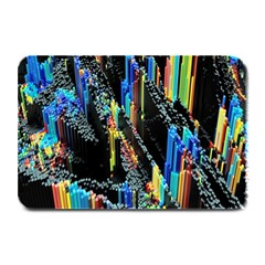 Abstract 3d Blender Colorful Plate Mats