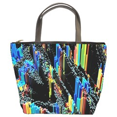 Abstract 3d Blender Colorful Bucket Bags