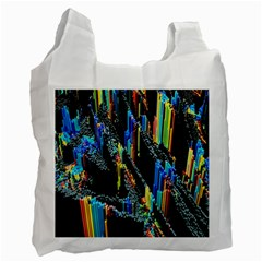 Abstract 3d Blender Colorful Recycle Bag (one Side)