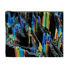 Abstract 3d Blender Colorful Cosmetic Bag (xl)