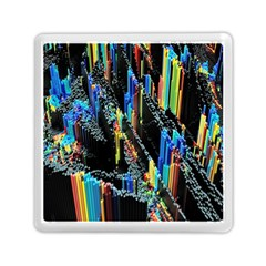 Abstract 3d Blender Colorful Memory Card Reader (square)