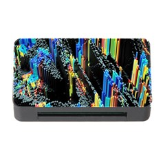 Abstract 3d Blender Colorful Memory Card Reader With Cf