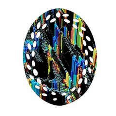 Abstract 3d Blender Colorful Ornament (Oval Filigree)