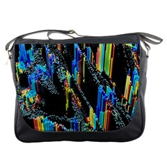 Abstract 3d Blender Colorful Messenger Bags