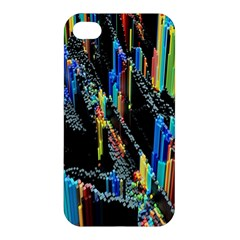 Abstract 3d Blender Colorful Apple iPhone 4/4S Premium Hardshell Case