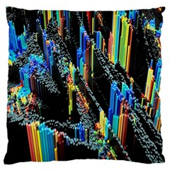 Abstract 3d Blender Colorful Large Cushion Case (Two Sides)