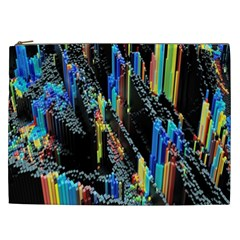 Abstract 3d Blender Colorful Cosmetic Bag (XXL)